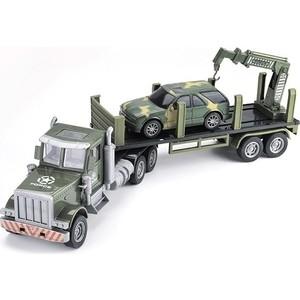 Zhoule Toys Радиоуправляемый грузовик-трейлер + джип CityTruck 1/24 - 552-B2