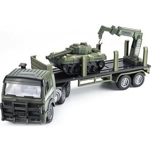 Zhoule Toys Радиоуправляемый грузовик-трейлер + танк CityTruck 1/18 - 551-B2