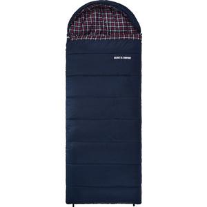 Спальный мешок TREK PLANET Belfast XL Comfort, широкий с фланелью, левая молния, цвет- черный