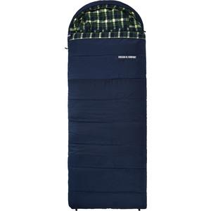 цена на Спальный мешок TREK PLANET Chelsea XL Comfort, широкий с фланелью, левая молния, цвет- синий