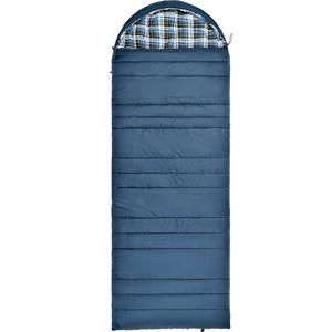 Спальный мешок TREK PLANET Douglas Wide Comfort, с фланелью, левая молния, цвет- синий