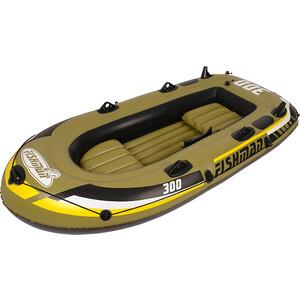 Лодка надувная Jilong FISHMAN 300SET, с веслами и насосом, 252х125х40 см байдарка надувная intex challenger к1 с насосом и веслами цвет зеленый серый черный 274 х 76 х 38 см