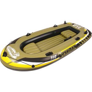 Лодка надувная Jilong FISHMAN 350SET, с алюм.веслами и насосом, 305х156х42 см байдарка надувная intex challenger к1 с насосом и веслами цвет зеленый серый черный 274 х 76 х 38 см