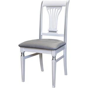 Стул Мебелик Арида белый/серебро атина серебро фото