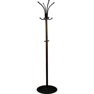 Вешалка напольная Мебелик Декарт 541 черный/темно-коричневый