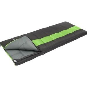 Спальный мешок TREK PLANET Dreamer, трехсезонный, левая молния, серый/зеленый цена и фото