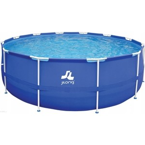 Каркасный бассейн Jilong ROUND, 360х76 см, семейный цвет голубой бассейн надувной jilong barbapapa 2 ring цвет голубой 61 х 12 5 см