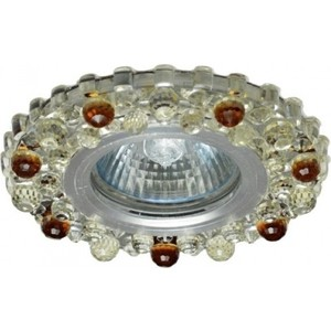 Светильник встраиваемый ONLYLIGHT CP-7822 MR16 AL,CL+AMB электростандарт светильник точечный 206 mr16 gd cl золото прозрачный
