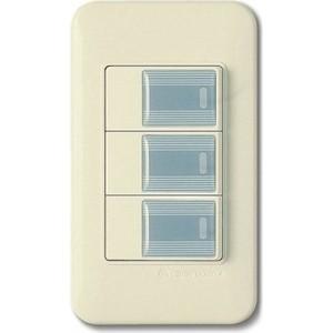 PANASONIC SHIN DONG-A Выключатель 3-кл. Бежевый, серые клавиши фото