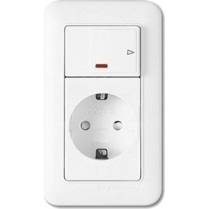 цена на PANASONIC SHIN DONG-A Розетка з/к с выключателем (подсветка). Белый