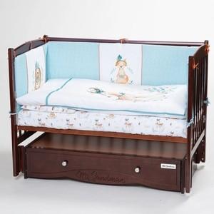 Кроватка Lappetti Волшебный лес 6 предметов, голубой наталья доброва василиса и волшебный лес