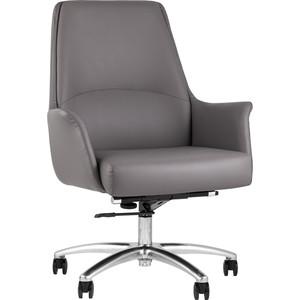 Кресло офисное TopChairs Viking серое B025 DL001-22