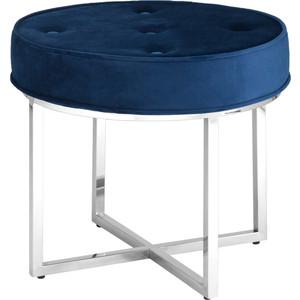 Банкетка Stool Group Сапфир вельвет синий/сталь серебро Ottoman-003 blue/silver