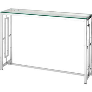 Консоль Stool Group Бруклин прозрачное стекло/сталь серебро ECST-013 (115x30)