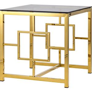 Журнальный стол Stool Group Бруклин стекло smoke/сталь золото EET-013-TG-1