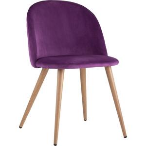 Стул Stool Group Лион вельвет с ромбами лиловый Zomba velvet purple Diamon