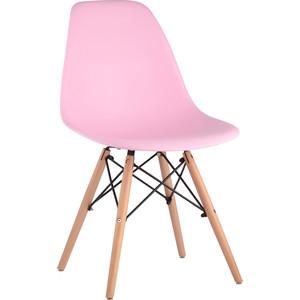 Стул Stool Group Eames деревянные ножки 8056PP pink