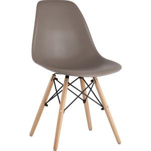 Стул Stool Group Eames темно-серый/деревянные ножки 8056PP Warm grey