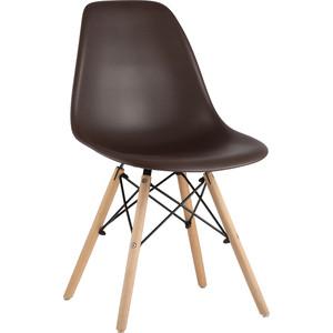 Стул Stool Group Eames коричневый деревянные ножки 8056PP brown 66009