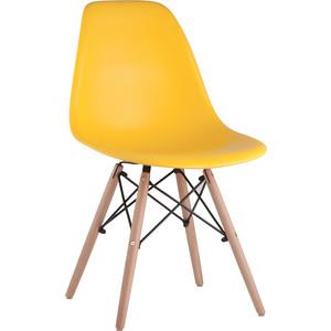 Стул Stool Group Eames деревянные ножки 8056PP yellow