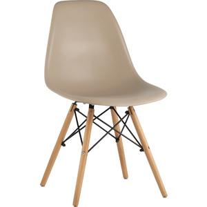 Стул Stool Group Eames бежево-серый/деревянные ножки 8056PP dark grey
