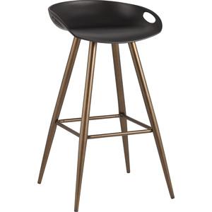 Стул барный Stool Group Флэш черный/бронзовые ножки Fiyan black&bronze бронзовые акриловые типсы с цветами и кристаллами bronze beauty