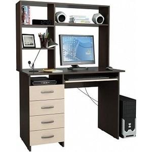 цена на Стол компьютерный Мастер Милан-3 с надставкой венге/дуб молочный М-3Н-ВМ-ДМ