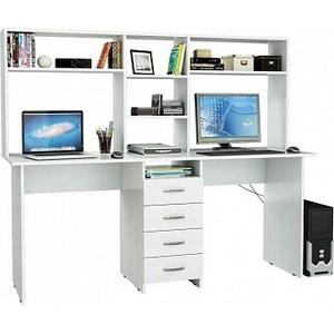 Стол письменный Мастер Тандем-2 с надставкой белый ТДМ-2Н-БТ коробка распаячная тдм sq1402 1008 120х92х45мм крышка ip20