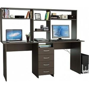 Стол письменный Мастер Тандем-2 с надставкой венге ТДМ-2Н-ВМ коробка распаячная тдм sq1402 1008 120х92х45мм крышка ip20
