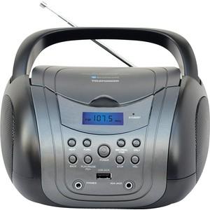 Аудиомагнитола TELEFUNKEN TF-CSRP3499B серый/черный аудиомагнитола telefunken tf csrp3494b красный
