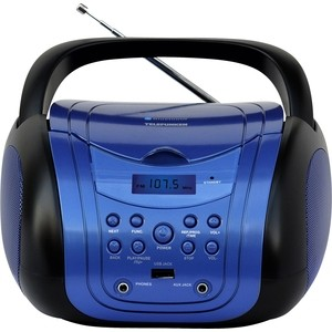 Аудиомагнитола TELEFUNKEN TF-CSRP3499B синий/черный аудиомагнитола telefunken tf csrp3494b красный