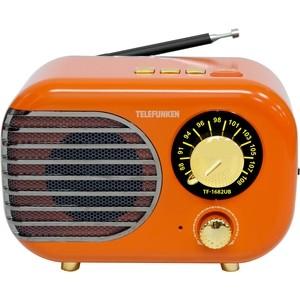 Радиоприемник TELEFUNKEN TF-1682UB orange/gold радиоприемник telefunken tf 1571 белый