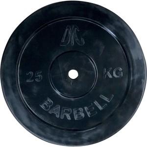 Диск обрезиненный DFC черный. 26 мм. 25 кг диск обрезиненный star fit bb 202 посадочный диаметр 26 мм 0 5 кг