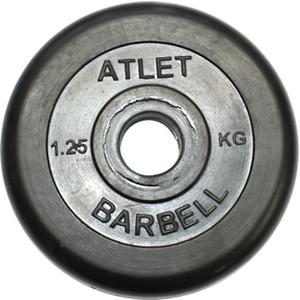 цена на Диск обрезиненный MB Atlet черного цвета. 31 мм. 25 кг