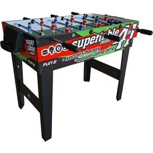 Игровой стол - трансформер DFC FUN2 4 в 1 теннисный стол dfc tornado 4 мм с сеткой
