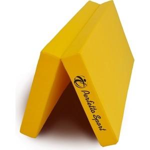 цена на Мат PERFETTO SPORT Мат № 10 (100 х 150 х 10) складной 1 сложение жёлтый