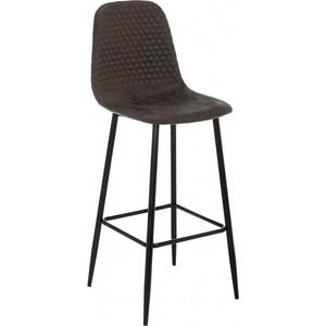Барный стул Woodville Drop black/dark brown