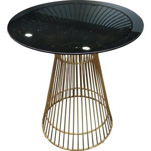 Стол TetChair Argo (mod. DT1471 ) металл/стекло черный/золотой гальваник ботильоны argo argo mp002xw1aoq8