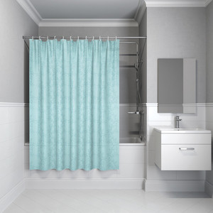 Штора для ванной IDDIS Basic 180x200, голубая (B64P218i11) штора для ванной dasch la vita кораллы цвет мультиколор 178 х 200 см