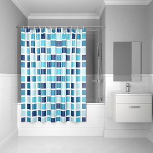 Штора для ванной IDDIS Basic 180x200, голубая (B63P218i11) штора для ванной dasch la vita кораллы цвет мультиколор 178 х 200 см