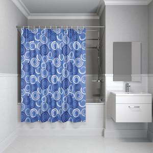 Штора для ванной IDDIS Basic 180x200, синий (B60P218i11)