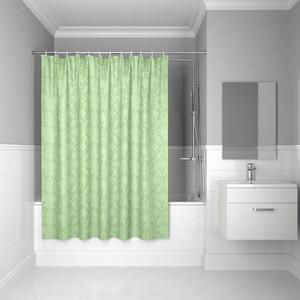 Штора для ванной IDDIS Basic 180x200, зеленая (B54P218i11) шторы рулонные ролло идея рулонная штора ролло lux samba цветы зеленый оранжевый желтый 160 см
