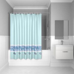 Штора для ванной IDDIS Basic 180x200, голубая (B49P218i11) штора для ванной dasch la vita кораллы цвет мультиколор 178 х 200 см