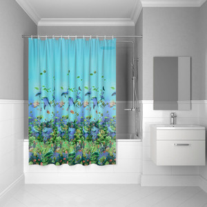 Штора для ванной IDDIS Promo 180x180, голубая (P22PV11i11) штора для ванной 180 180 см пэт однотонный 10 40