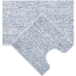 Набор ковриков для ванной IDDIS Basic 80x50, 50x50, бело-синий (B14M580i12)