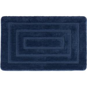 Коврик для ванной IDDIS Basic 80x50, темно-синий (B09M580i12) темно синий стиль pu кожаный бумажник держателя карты откидная крышка чехол дляsamsung a510