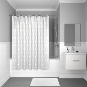 Штора для ванной IDDIS Decor 180x200, белая (D15P218i11) штора для ванной dasch la vita кораллы цвет мультиколор 178 х 200 см