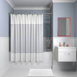 Штора для ванной IDDIS Basic 240x200, бело-синий (B42P224i11)