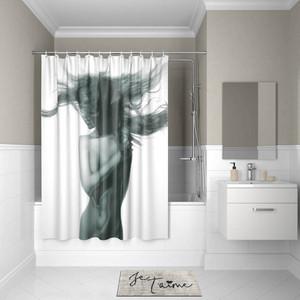 Штора для ванной IDDIS Basic 180x200, черно-белая (B27P218i11)