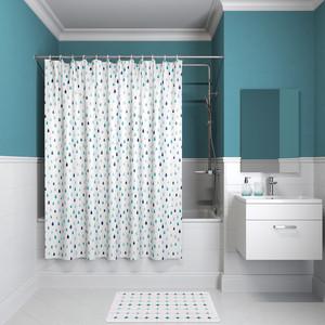 Фото - Штора для ванной IDDIS Promo 180x180, бело-синий (P14P118i11) шторка для ванной tatkraft seagull цвет белый синий 180 см х 180 см